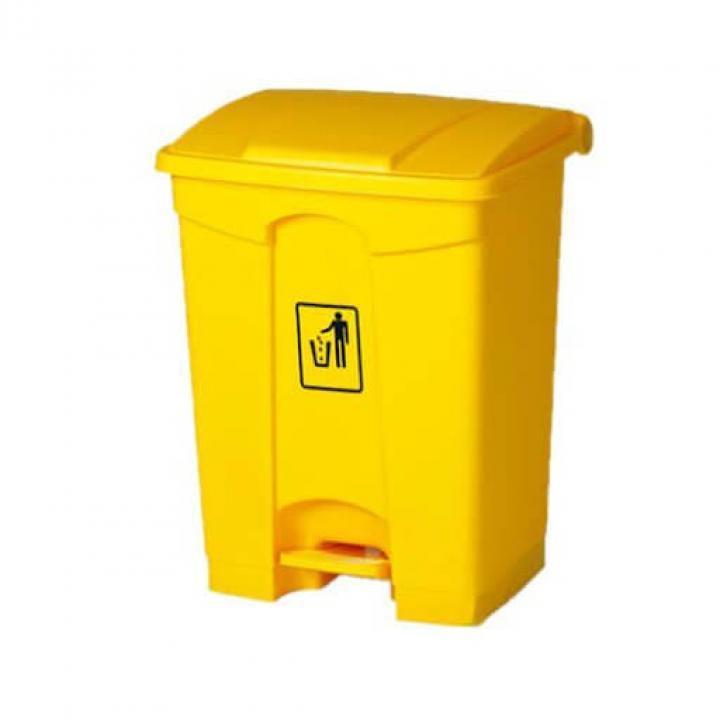 Thùng rác nhựa vàng Vietclean B-7317Y 68 lít