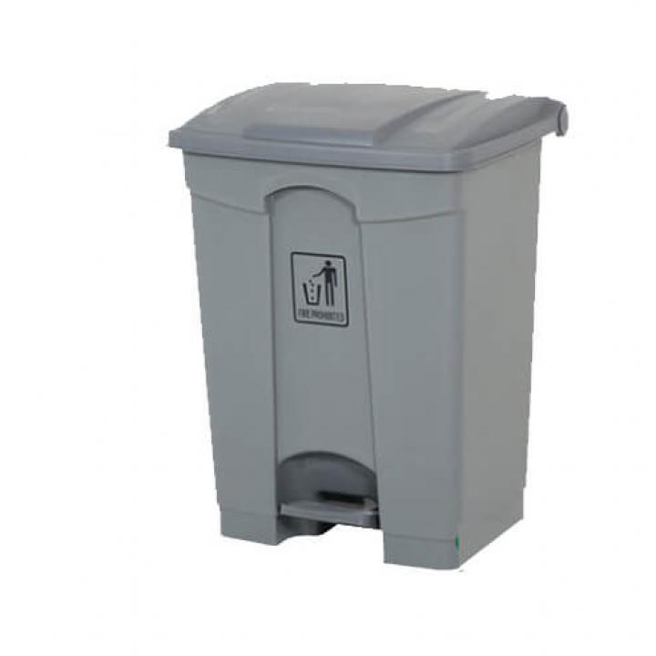 Thùng rác nhựa xám Vietclean B-7317G 68 lít