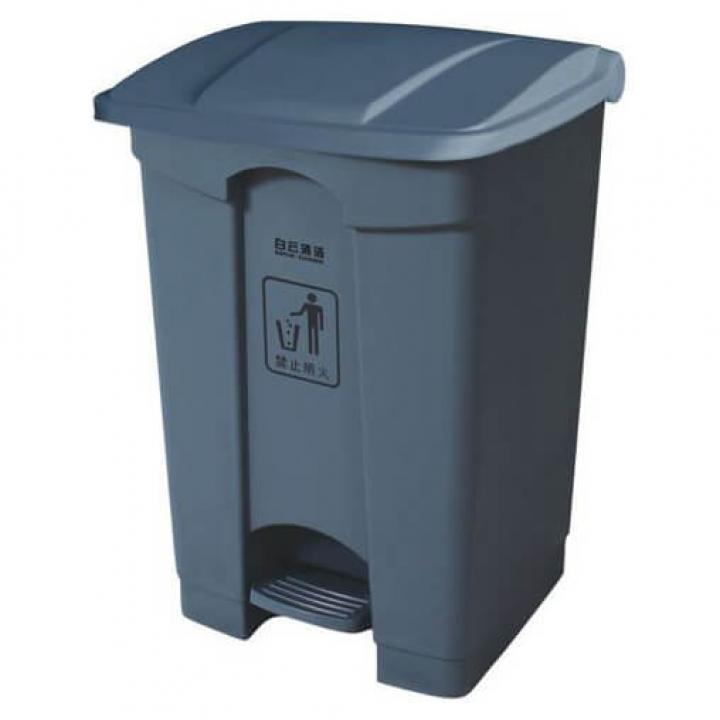 Thùng rác nhựa xám Vietclean 45L B-7331G