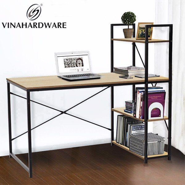 Khung bàn liền kệ D1200xR600xC703mm đen tĩnh điện VNH2923658