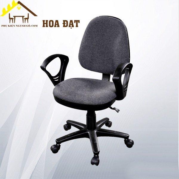 Ghế xoay cho văn phòng chân nhựa đệm mút bọc vải nỉ màu muối tiêu VNH002750 (Cái)