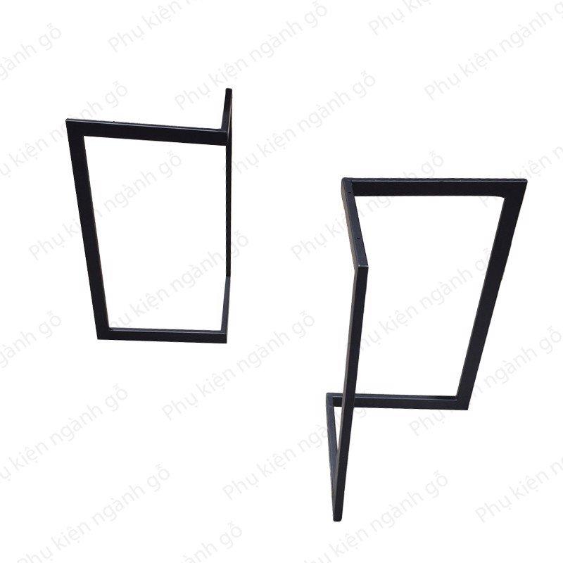 Chân bàn vuông bộ 02 cái bằng sắt VNH002814 (Bộ)