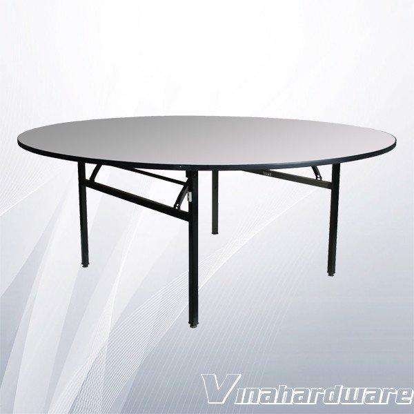 Khung bàn tròn xếp gọn quán ăn (nhiều loại) VNH286090 (không ván)