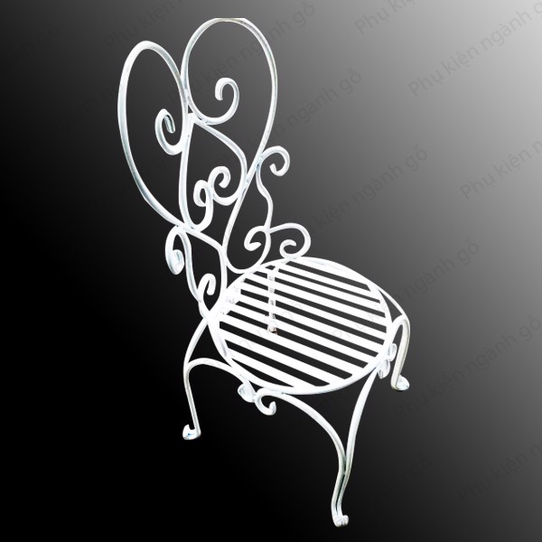 Ghế cafe sắt láp đặc phi 10mm màu trắng SP028580 (Cái)