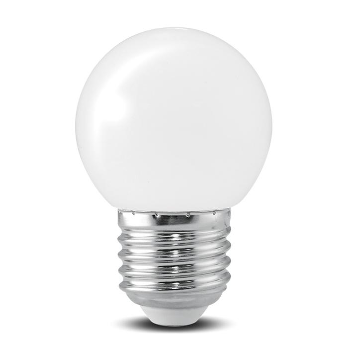 Bóng đèn LED BULB tròn màu 1W màu trắng