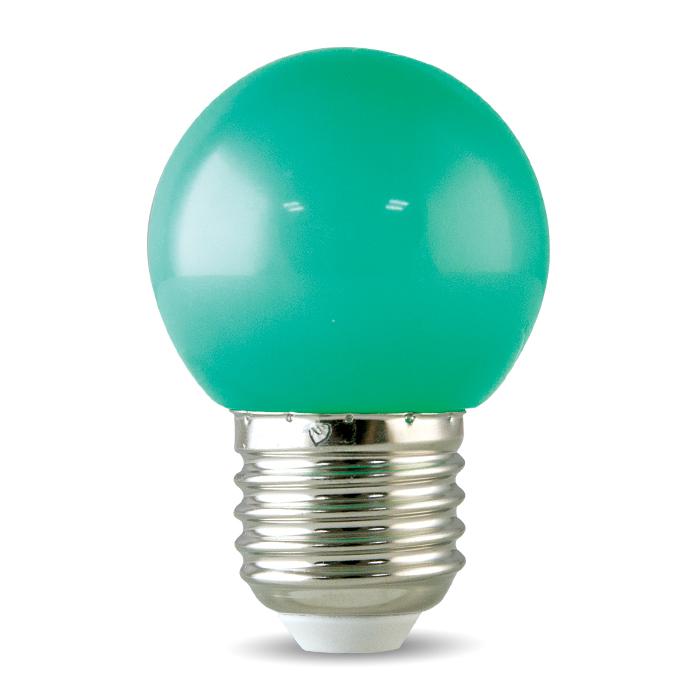 Bóng đèn LED BULB tròn màu 1W màu xanh lá