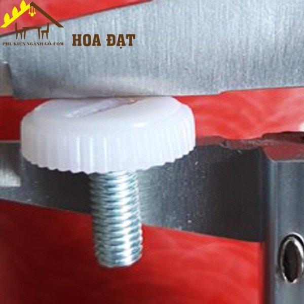 Chân đế nhựa tăng chỉnh chân bàn đế tròn 20mm màu trắng SP286186