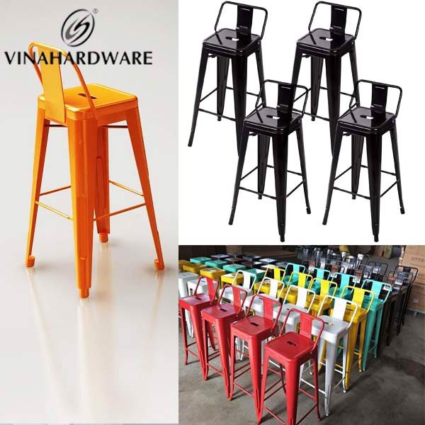 Khung ghế sắt lưng tựa tolix bàn ghế quán ăn cafe bar SP286153