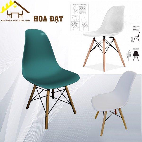 Ghế dựa lưng nhựa đúc nhà hàng phòng ăn gia đình Eames SP002645