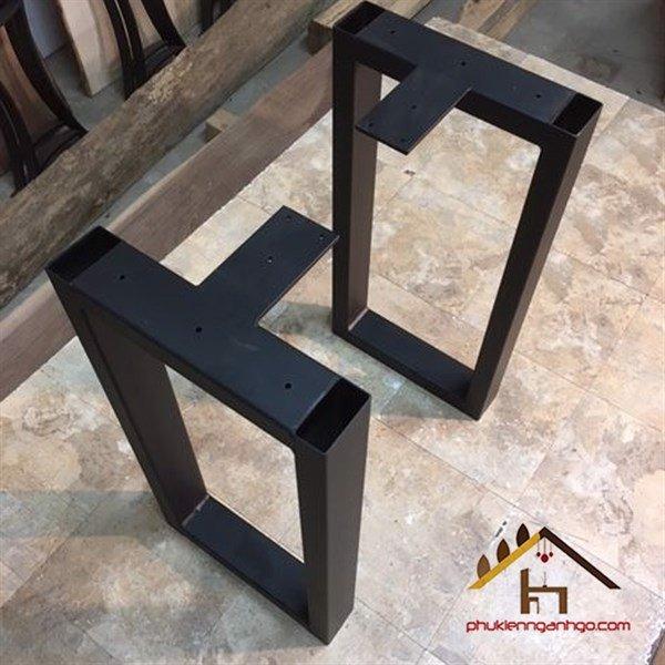 Khung chân bàn sắt sơn đen chữ nhật đầu nối chữ T cao 720mm x rộng 600mm SP028480 (Cặp)