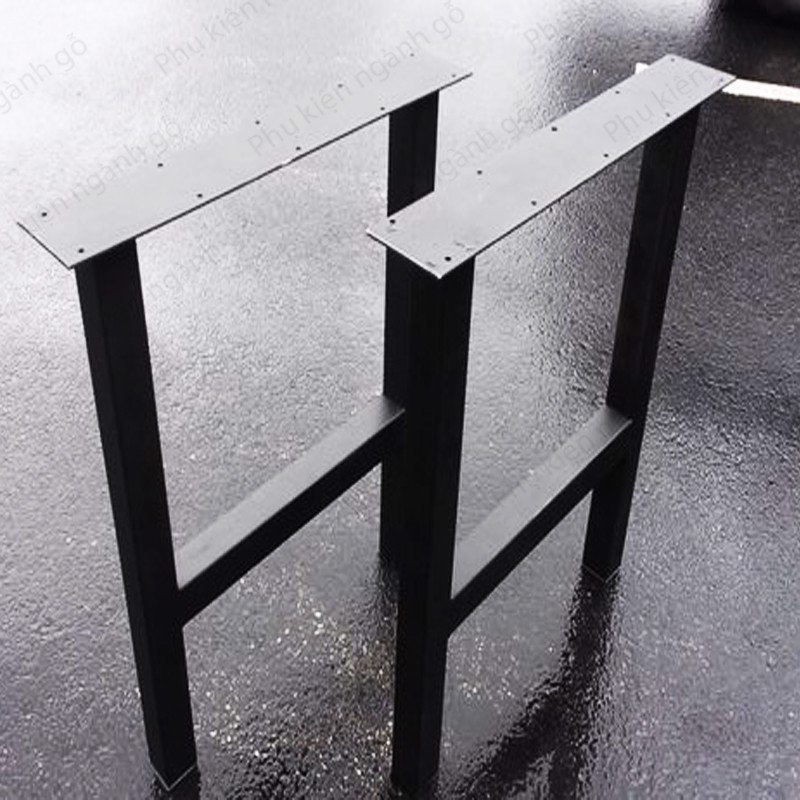 Khung chân bàn sắt sơn đen cao 74cm SP028376 (Bộ)
