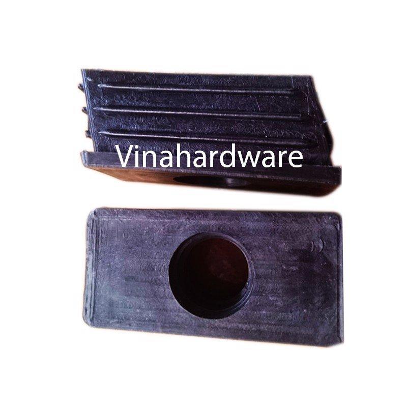 Chân đế nhựa chân bàn xéo hình chữ nhật 80x40mm PB8040