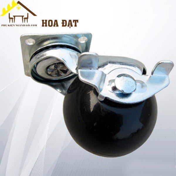 Bánh xe cầu tròn có khóa đường kính 50mm CT386250LB1