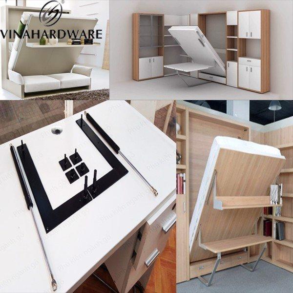 Bộ phụ kiện tay nâng giường xếp gọn âm tủ ben hơi VN001318 (bộ)
