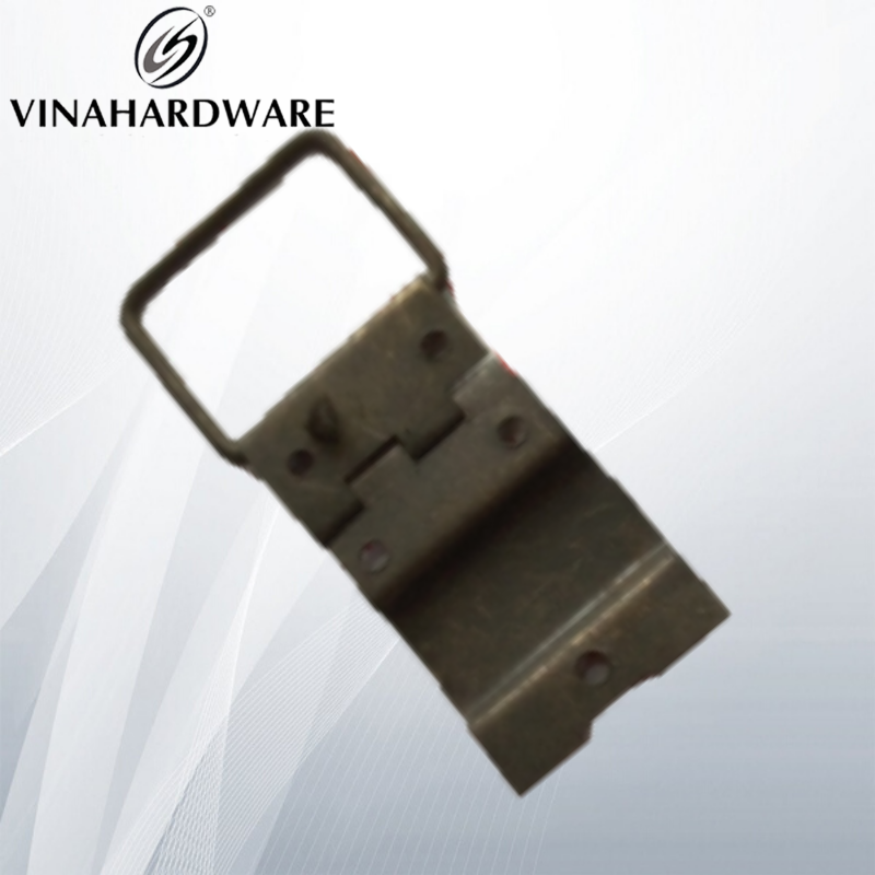 Bản lề lá có móc khóa loại trung màu giả cổ 23x70mm - Giả cổ H2370 (cái)