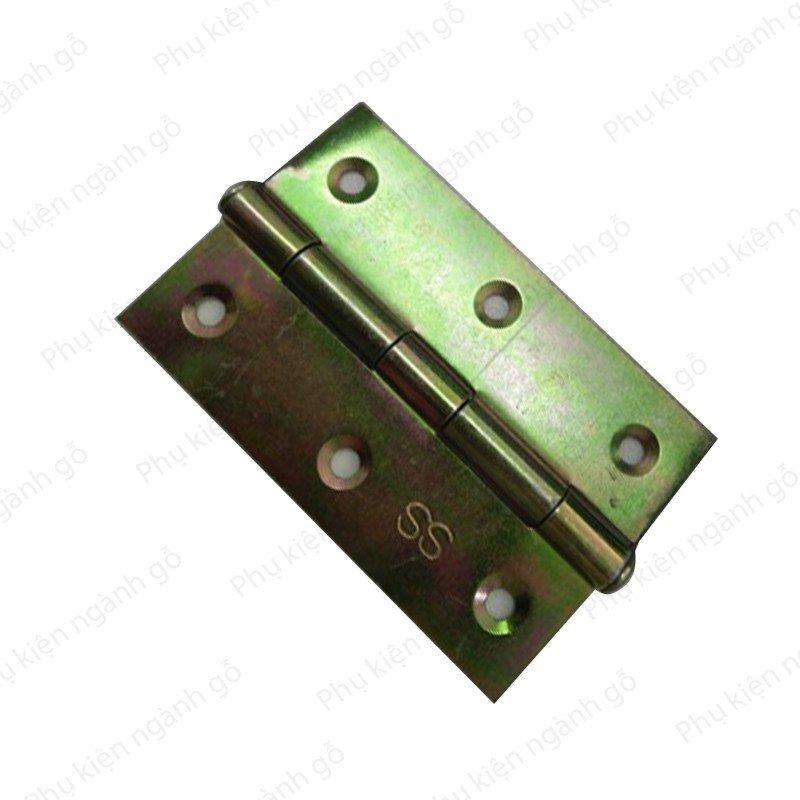 Bản lề lá sắt xi bảy màu 76x49mm dày 1 li H7649