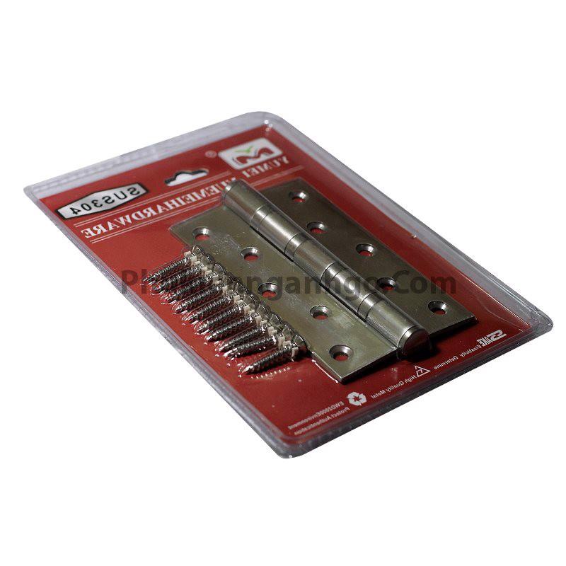 Bản lề cửa inox không rỉ (nhiều kích thước) dày 3mm SP000071 (cặp)