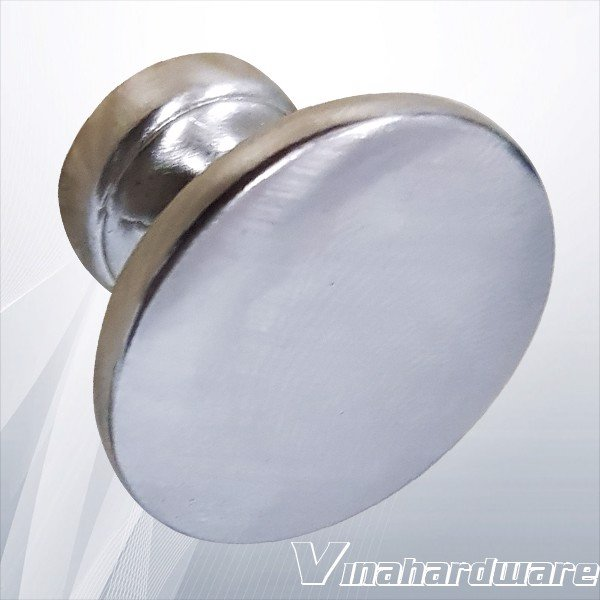 Núm tay nắm tủ xi mạ nikel trắng sáng tròn 25mm HD0080NK