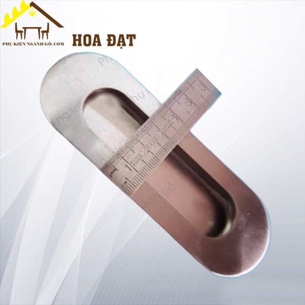 Tay nắm âm nikel xước loại tròn dài 96mm HD22192C (Cái)