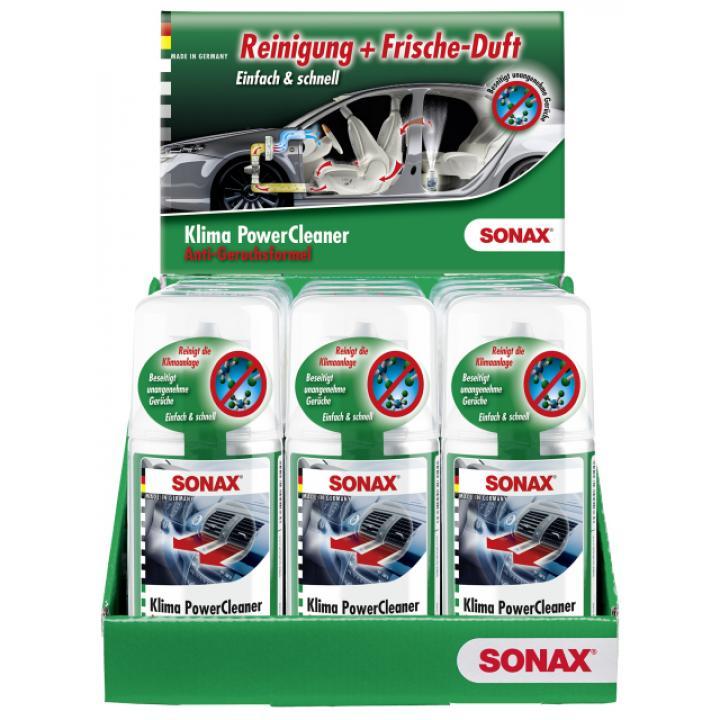 Sản phẩm khử mùi làm sạch điều hòa dạng hơi SONAX A/C Cleaner 323100