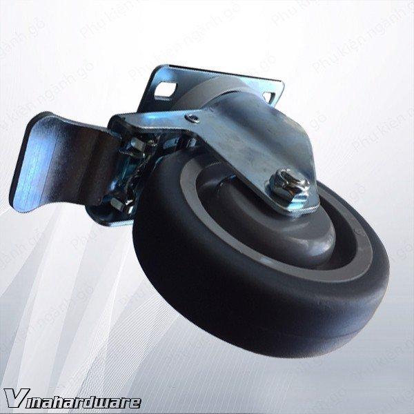 Bánh xe tủ có khóa VN1 phi 100mm dày 32mm CT10032A (Cái)