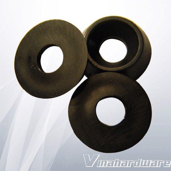 Long đền nhựa đen phi 12mm lỗ 4mm dày 2mm LD412B2 (con)