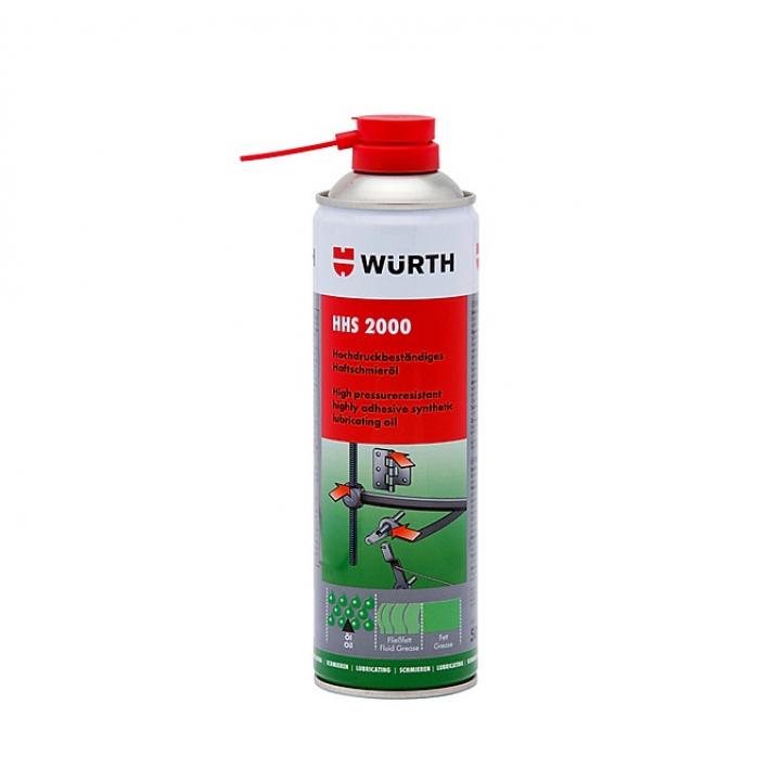 Chai xịt mỡ bò nước bôi trơn chịu nhiệt HHS 2000 Wurth