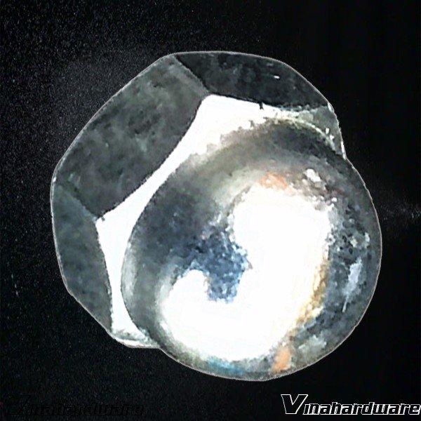 Tán bầu xi mạ trắng (nhiều kích thước) DN6