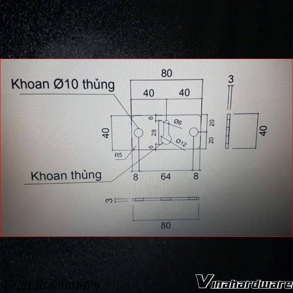 Pát sắt móc treo lớn giọt nước gia công theo yêu cầu SP286052