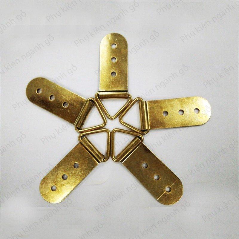 Pát sắt móc treo tranh hình tam giác 50mm xi mạ vàng đồng P50S
