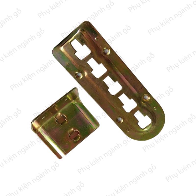 Pát sắt đỡ vạt giường 7 màu P0897M hai pát 46x68mm và 49x140mm