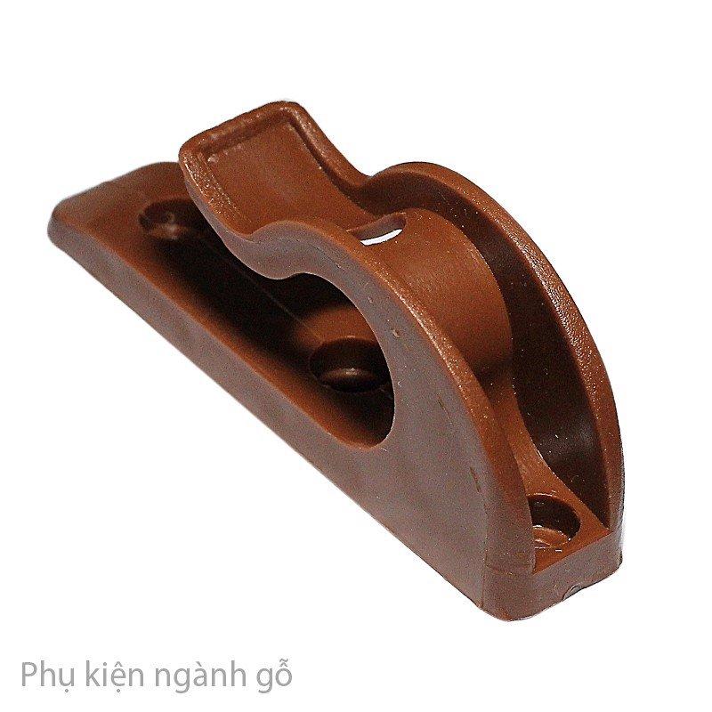 Pát móc nhựa cố định chân bàn xếp gọn màu nâu dài 100mm nẹp cây phi 22-25mm HP0070