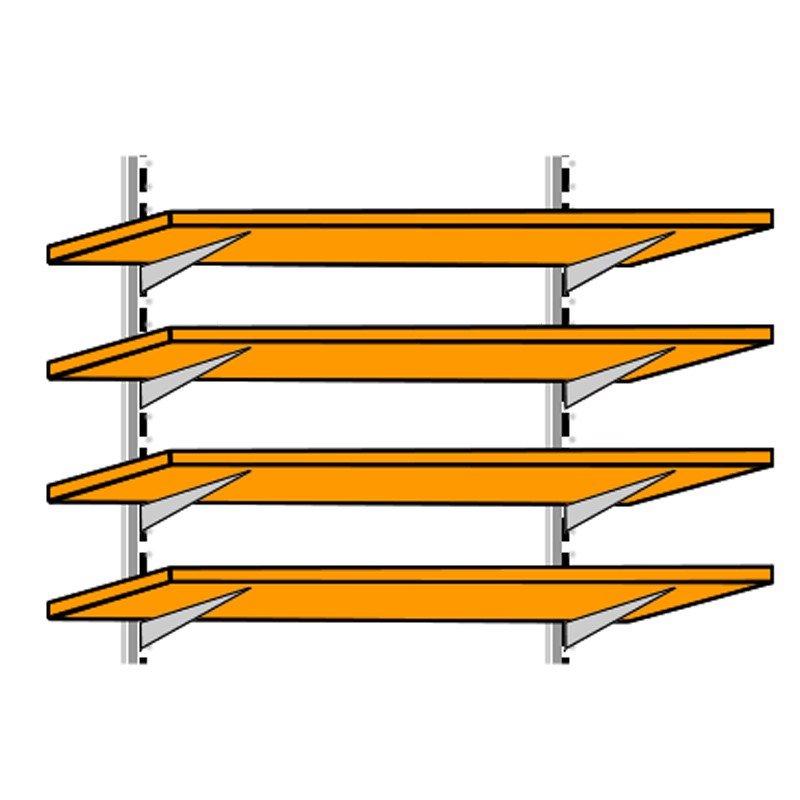 Bộ phụ kiện giá treo tường 4 tầng lắp ráp điều chỉnh SP000192