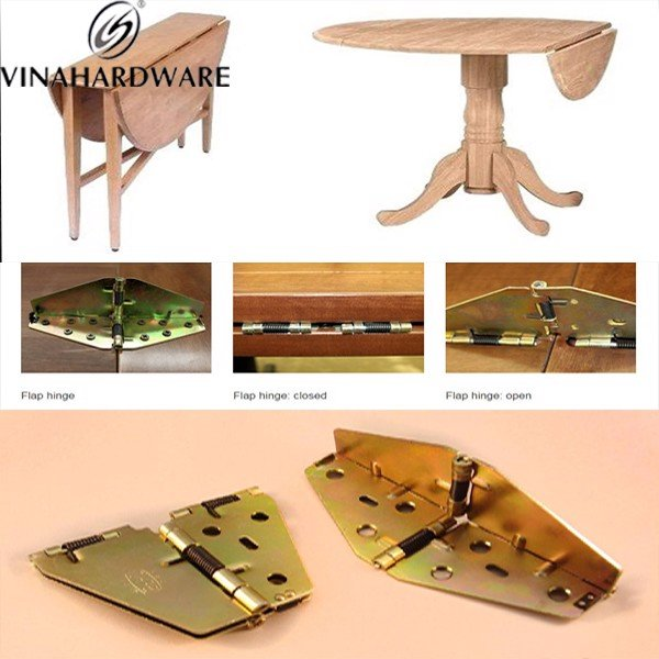Phụ kiện bản lề pát sắt cho mặt bàn gấp xếp gọn H0051