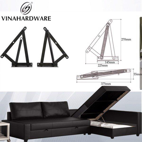 Phụ kiện tay nâng mặt ghế sofa cất xếp gọn 225x270mm P4511
