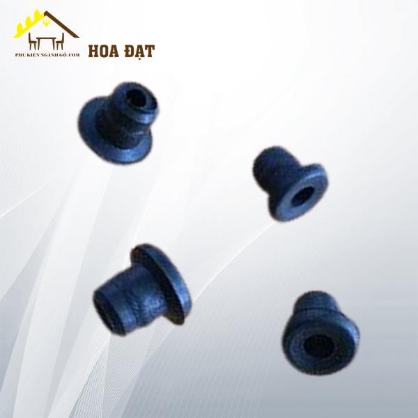 Nút bít bằng nhựa phi 8 chân quạt, màu đen WC08QB (cái)
