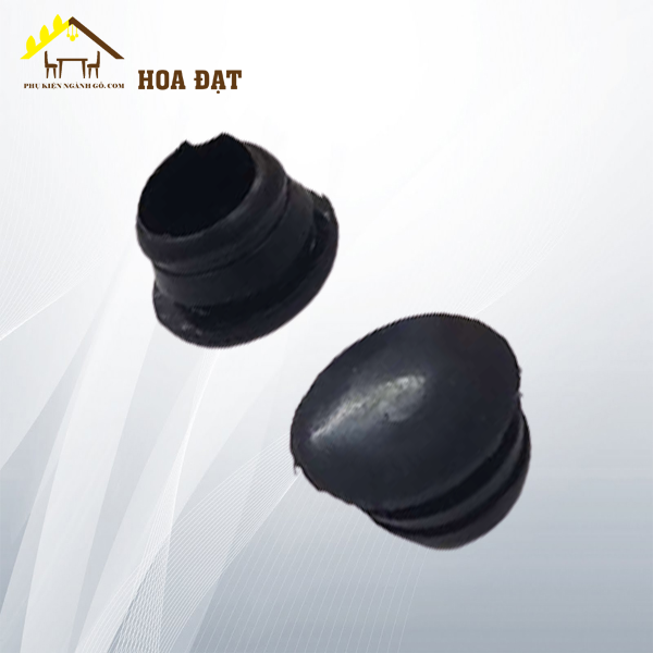 Nút bít màu đen, 2 sọc gân, phi 10 WC010B