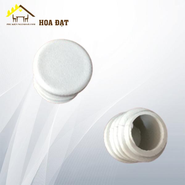 Nút chụp nhựa cho ống phi 22, màu trắng WC2203W