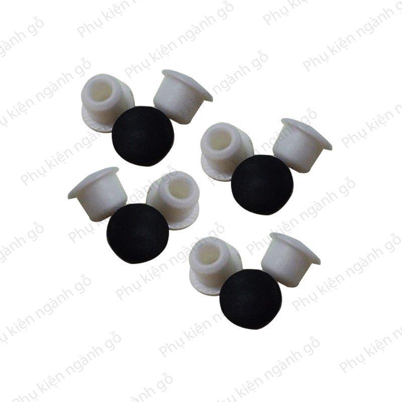 Nút nhựa dẻo đậy lỗ 9mm kích thước 9x9x12mm SP000206