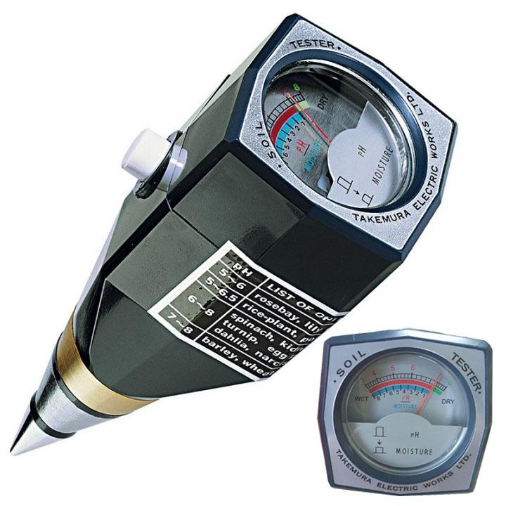 Máy đo pH và độ ẩm đất Takemura DM15