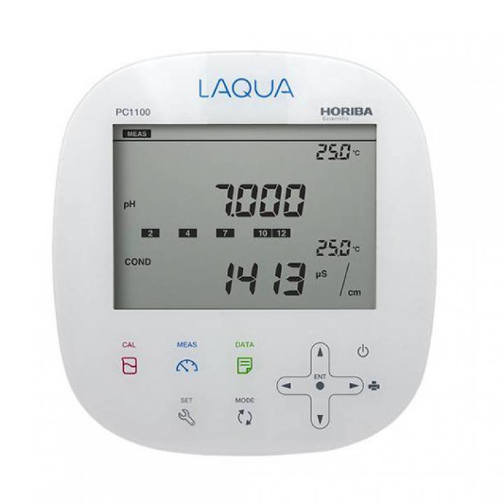 Máy đo pH/ thế oxy hóa-khử (ORP)/ độ dẫn/ điện trở/ độ mặn/ tổng hàm lượng chất rắn hòa tan (TDS) để bàn Horiba PC1100