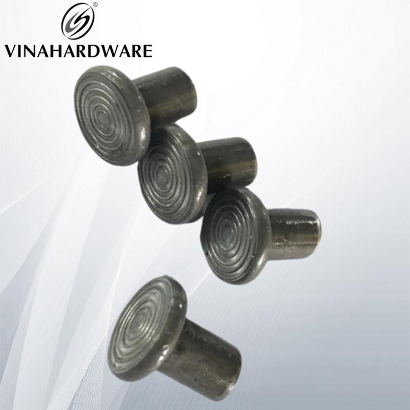 Chốt sắt có vân tròn 8x15 đầu 14, đặc ruột không xi VNH2208345 (kg)