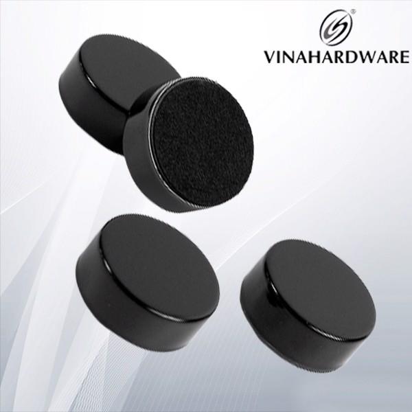Nam châm hít cửa tủ tròn màu đen MAG510B (Cái)