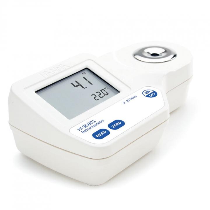 Khúc xạ kế đo độ ngọt brix trong thực phẩm Hanna HI96801