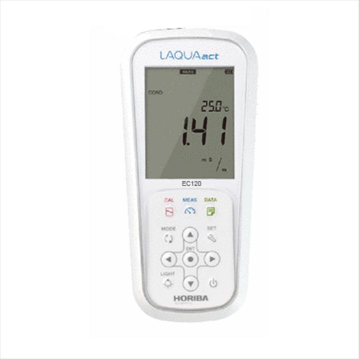 Máy đo độ dẫn/ điện trở/ độ mặn/ tổng hàm lượng chất rắn hòa tan (TDS) cầm tay Horiba EC120