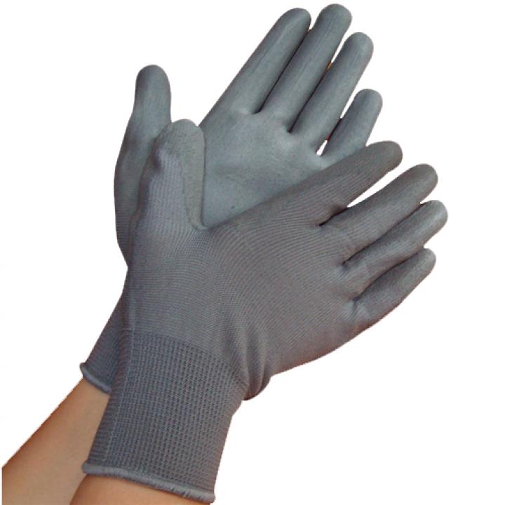 Găng tay phòng sạch phủ PU lòng bàn màu xám