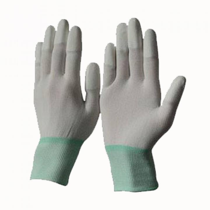 Găng tay phòng sạch ngón phủ PU màu xám