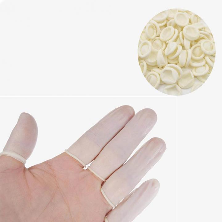 Bao ngón chống tĩnh điện có đai - màu trắng 500g/túi
