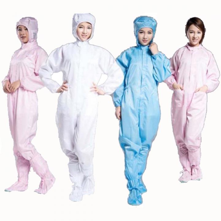 Bộ quần áo liền thân phòng sạch chống tĩnh điện