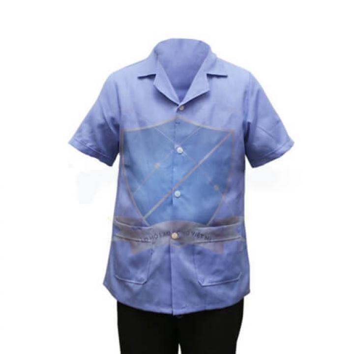 Áo blouse ngắn tay nam/nữ